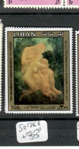 LEBANON (P0106B) KHALIL GIBRAN  300P   SG 1288   MNH