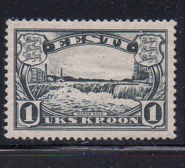 Estonia Sc  112 1933 1 kr Narva Falls stamp mint