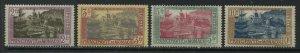 Monaco 1925-27 2 to 10 francs mint o.g. hinged