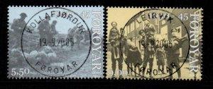 Faroe Islands Sc 463-64 2005 End of British Occupation stamp set used