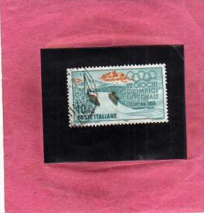 ITALIA REPUBBLICA ITALY 1956 CORTINA GIOCHI OLIMPICI INVERNALI WINTER OLYMPIC...