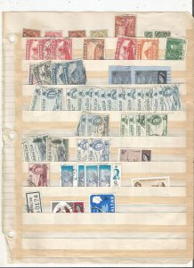 GIBRALTAR COLLECTION ON STOCK SHEET, MINT/USED