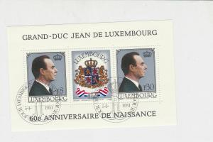 Luxembourg 1981 60th Anni. of Birth Grand-Duc Special Cancel Stamps Sheet R17804