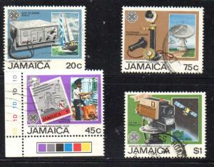 Jamaica Sc 567-0 1983 Christmas stamp set used