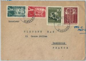 70166 - YUGOSLAVIA - POSTAL HISTORY -  Michel # 792C on COVER to FRANCE  1956