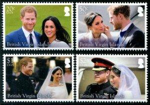 HERRICKSTAMP NEW ISSUES VIRGIN ISLANDS Sc.# 1196-99 Royal Wedding Prince Harry