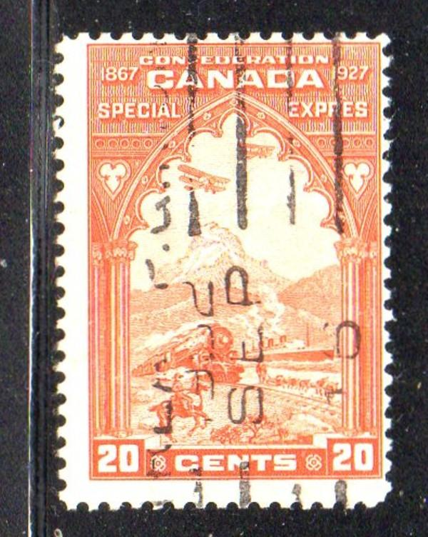 Canada Sc E 1927 20c orange Speical Delivery stamp used