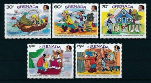 [22512] Grenada 1985 Disney Brothers Grimm, scene Fisherman and his wife MNH