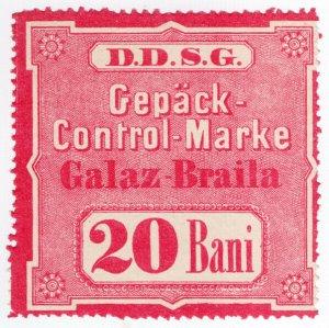 (I.B-CK) Austria Cinderella : Danube Steamship Company 20B (Parcel Stamp)