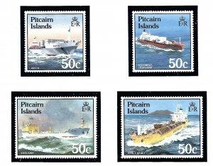 Pitcairn Is 258-61 MNH 1985 Ships          (KA)