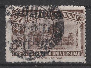Uruguay 1949 AIR / Centenary of Founding of Uruguay University 27c (1/4) USED