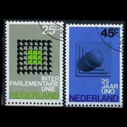 NETHERLANDS 1970 - Scott# 485-6 InterParl. Set of 2 CTO