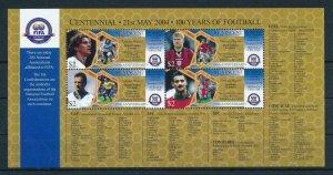[105260] St. Vincent & Gren. 2004 Football soccer Ginola Rush Scholes Sheet MNH