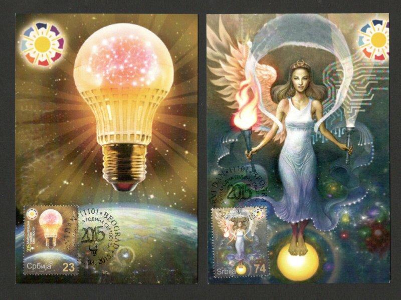SERBIA-MC-MK-INTERNATIONAL YEAR OF LIGHT-2015.