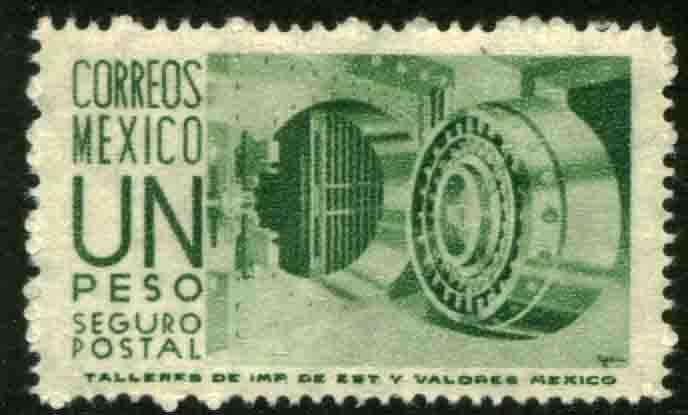 MEXICO G12, $1Peso 1950 Definitive 1st Printing wmk 279. MINT, NH. F-VF.