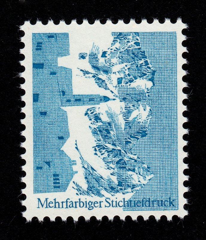 SWISS INTAGLIO-PRINTED TEST STAMP MEHRFARBIGER STICHTIEFDRUCK 1966 MNH-OG