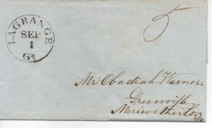 Georgia Stampless Cover, Lagrange Sept 1, 1846 - No Contents