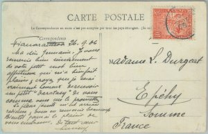 81173 - MADAGASCAR - POSTAL HISTORY - POSTCARD to FRANCE 1906 - FAUNA Lemurs