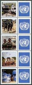 HERRICKSTAMP NEW ISSUES UNITED NATIONS Women in Peacekeeping Strip of 5
