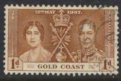 Gold Coast SG 117 Scott #112 Used Coronation 1937  see details
