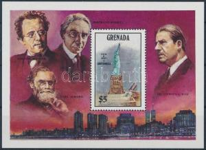 Grenada stamp Independence block MNH 1986 Mi 152 Famous people WS226119