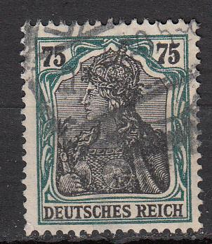 Germany - 1919  Germania  75 pf  Mi# 104  (2814)