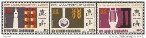 1966 New Hebrides British Scott 120-122 UNESCO set MVLH