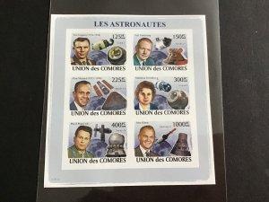 Unión des Comores 2008 Astronauts   Stamp Sheet R39072