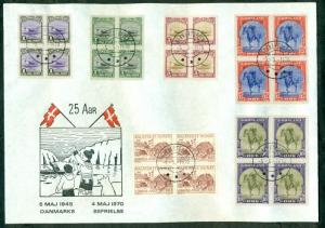 GREENLAND 1970, 25 year Liberation Anniversary covers (2) franked w/complete set