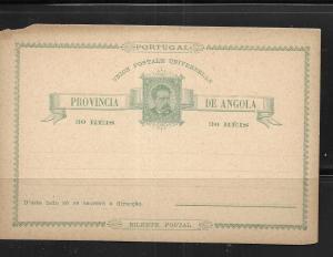 Angola 1903 Postcards H&G 3 Mint