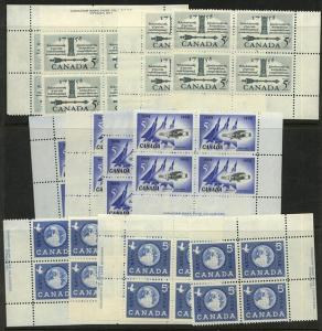 Canada - 1958-1959 3 Different Matched Sets #382-384