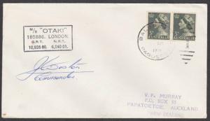 AUSTRALIA CANAL ZONE 1971 ship cover - Balboa cancel - signed..............55137
