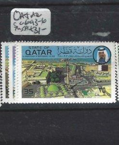 QATAR  (P2306BB)  SG  693-6          MNH