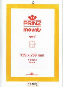 PRINZ CLEAR MOUNTS 159X259 (4) RETAIL PRICE $10.50