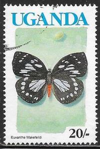 Uganda 705 Used - Butterfly