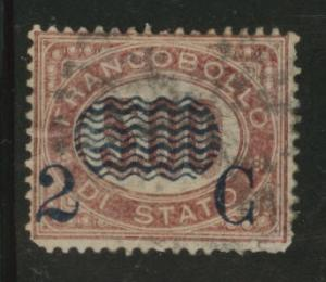 Italy Scott 43 Official overprint 2c on 5L CV$15 1877