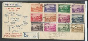 Norfolk Island FIRST DAY COVER  sc 1 - 12