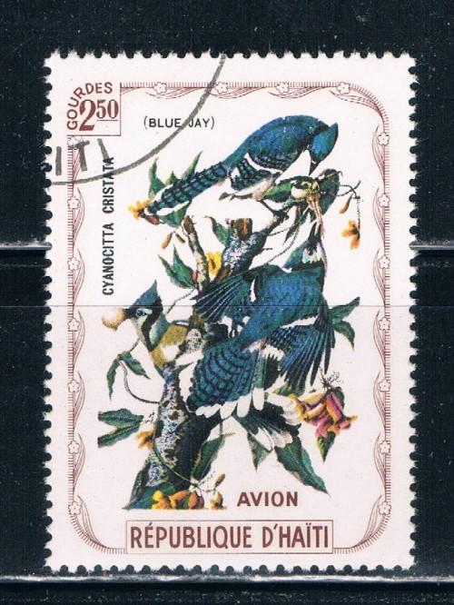 Haiti  Used Birds Blue Jay (H0016)