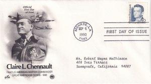 1990, Honoring Claire L. Chennault, Art Craft/PCS, FDC (E12213)
