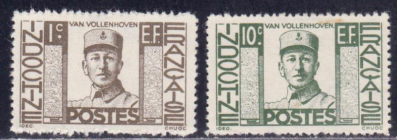 Indo China # 249-250, Joost Van Vollenhoven, Mint H