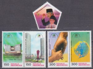 1997 Indonesia 1709-1713Paar 50th anniversary of the opening of cooperatives