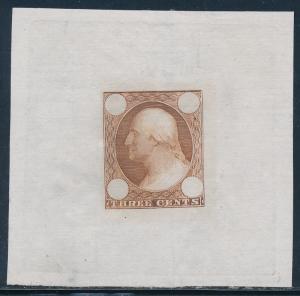 #65-E2b DIE ESSAY ON PROOF PAPER (YELLOW BROWN) BQ7349