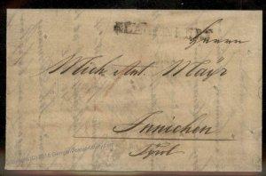 Austria 1832 Klagenfurt Innichwen Disinfected Cholera Cover Markings 93354