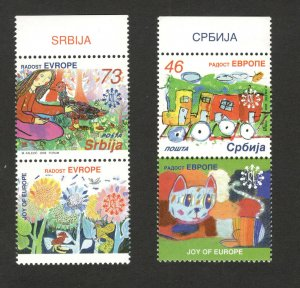 SERBIA-MNH SET+LABELS (VERTICAL) - JOY OF EUROPA-2006.