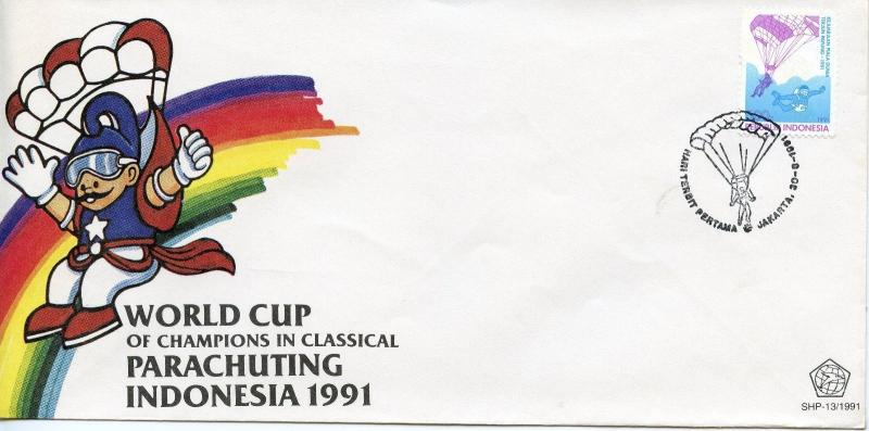 INDONESIA   -  1991 World Parachuting Championships  FDC3323