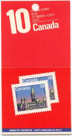 Canada -1988 38c Parliament Lunch Saver Booklet #BK101a