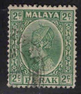 MALAYA Perak Scott 70 Used stamp vertical crease