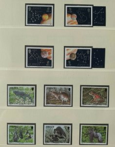 JE115) Jersey 2009 Europa - Astronomy (4) + Endangered Species - Durrell (6) MUH