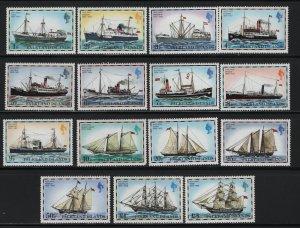 FALKLAND ISLANDS 260-274 MNH MAIL SHIPS 1978 SET