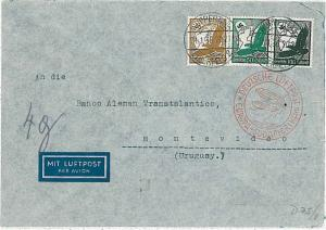 GERMANY -  POSTAL HISTORY : AIRMAIL COVER to MONTEVIDEO - URUGUAY 1936